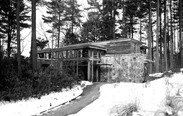 Una cabaña diseñada por Walter Gropius