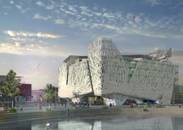 """Italia revela un pabellón permanente en la Expo de Milán que """"purificará la atmósfera del smog""""."""