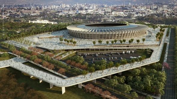 Los Estadios del Mundial de Fútbol Brasil 2014. Estadio Mineirao
