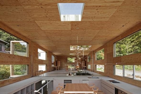 Perfecta combinación entre madera y hormigón