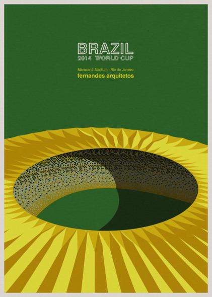 Ilustraciones arquitectónicas de la Copa Mundial de Fútbol Brasil 2014