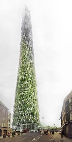 Rascacielos orgánico crece a medida que sus residentes reciclan