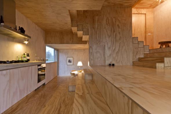 Casa Escalera inspirada en Adolf Loos