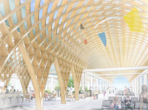 Shigeru Ban presenta nuevo aeropuerto
