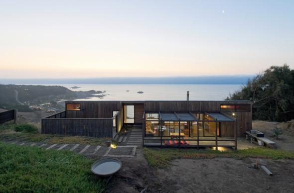 Casa excavada en el mar