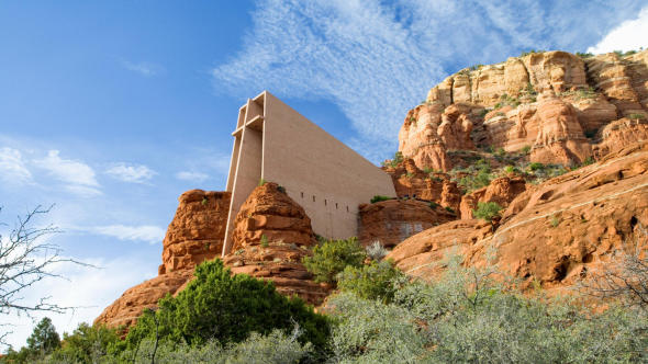 Capilla de la Roca fue inspirada por Lloyd Wright