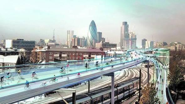 Acaso el futuro de las ciclovías está en el aire