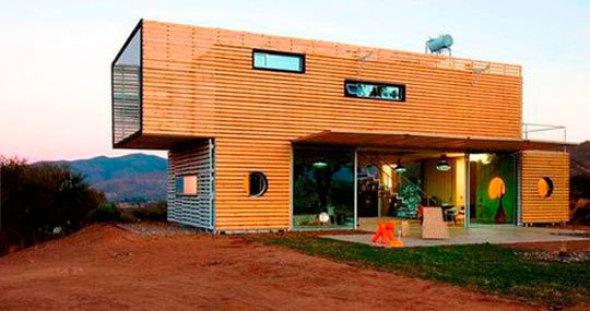 Viviendas prefabricadas a partir de tierra y metal