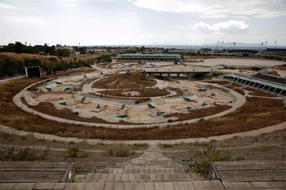 Instalaciones de los Juegos Olímpicos del 2004 abandonadas