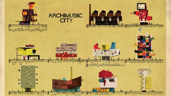 Canciones clásicas se vuelven edificios.