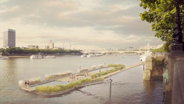 Piscina flotante en Londres