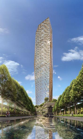 Torre Dorada de 75 pisos de lujo en la India