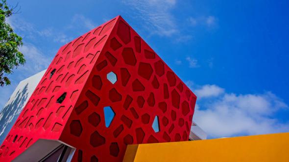 Casa Coral. Geometría muy simple y ortogonal