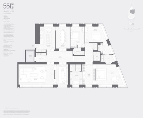 Se revelan los interiores del West 21st de Norman Foster