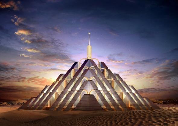 Ciudad pirámide de carbono neutral en Dubái