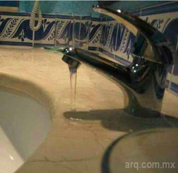 Humor en la arquitectura. Lavamanos para sanitarios.