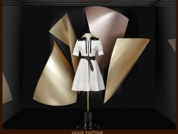 Louis Vuitton vestido de Frank Gehry