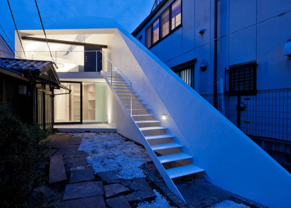 Vivienda diagonal en Japón