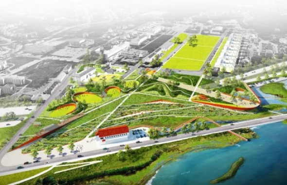 Cinco grandes firmas revelan diseños competidores del New Presidio Parklands