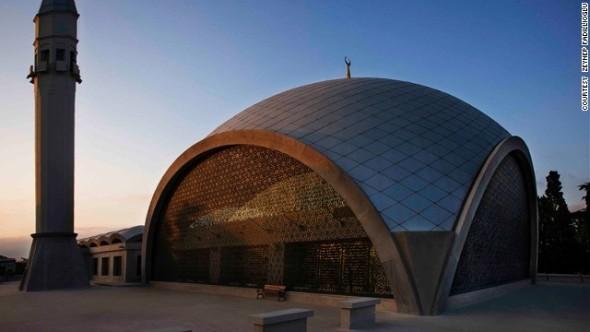 Mezquita moderna y poco convencional