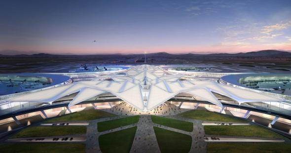 Propuesta del aeropuerto de la Ciudad de México de Zaha Hadid Architects y Serrano Arquitectos