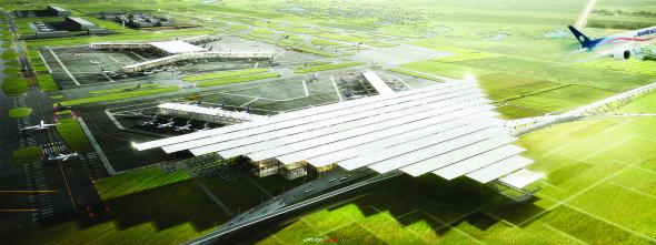 Propuesta de aeropuerto de la Ciudad de México de LOGUER, JAHN y ADG