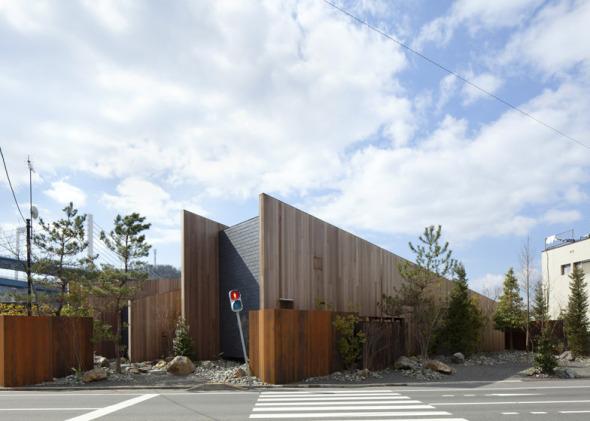 Casa de muros diagonales