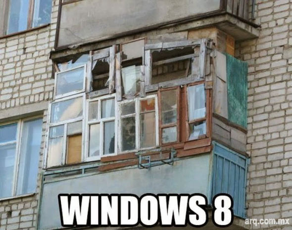 Humor en la Arquitectura, WINDOWS 8
