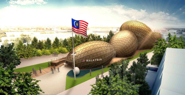Pabellón de Malasia para la expo milan 2015