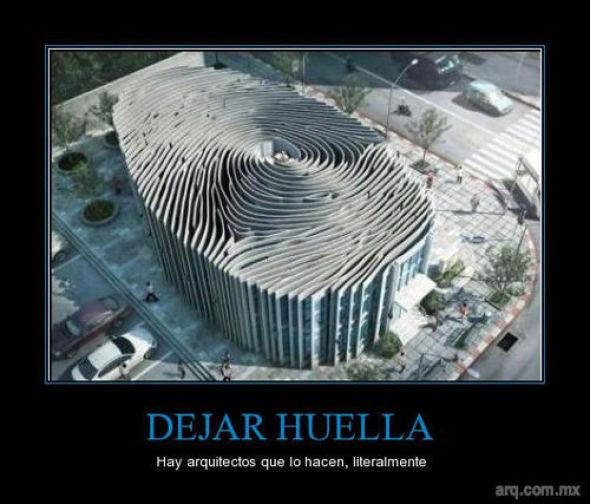 Humor en la Arquitectura, Dejando Huella