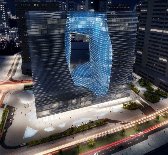 Sorprendentes edificios con enormes orificios en el medio