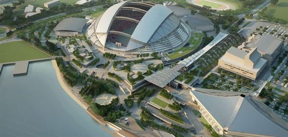 Complejo deportivo en Singapur