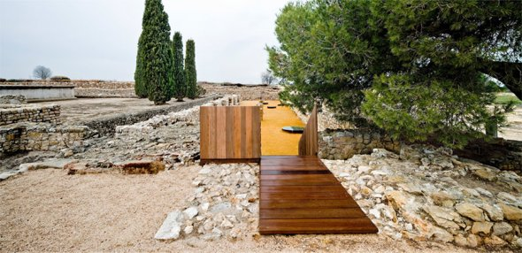 Restauración de restos de una ciudad Griega
