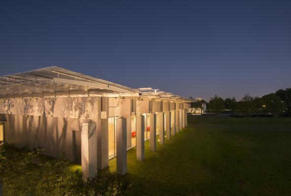 Video de construcción del Pabellón para el Museo Kimbell de Renzo Piano