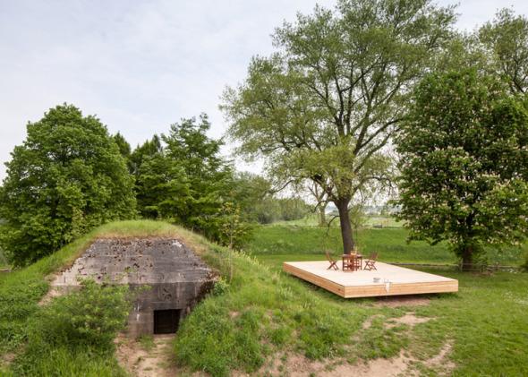 Habitando un búnker en Holanda