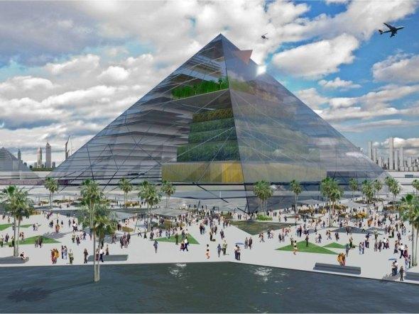 La Granja Pirámide es una Visión de la Agricultura Vertical para 2060