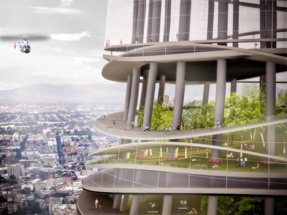 Arquitecto construirá parque de 200 metros de altura en la ciudad de México