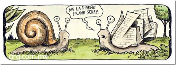 Humor en la Arquitectura. Frank Gehry diseña conchas de caracoles