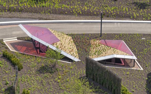 Pabellón y estacionamiento subterráneo