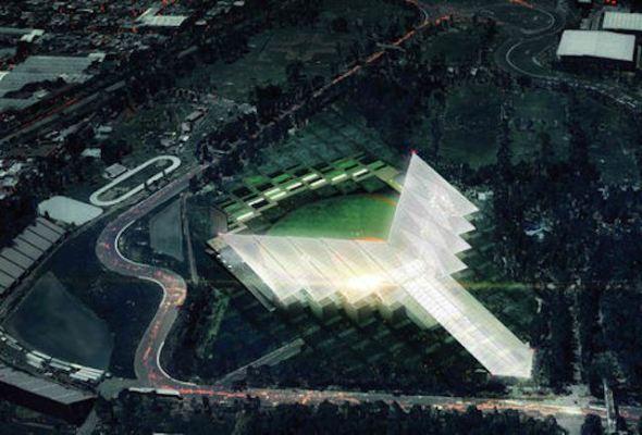 Nuevo estadio de béisbol con tintes prehispánicos en la ciudad de México