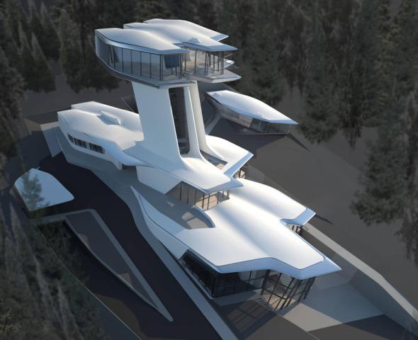 La nave espacial que Zaha Hadid diseñó para Naomi Campbell