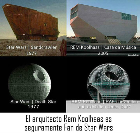 Humor en la Arquitectura. Rem Koolhaas Fan de Star Wars