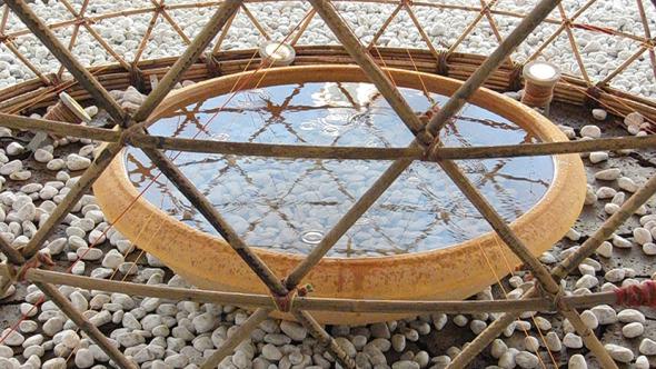 Estructura de bambú es una solución contra la sequía