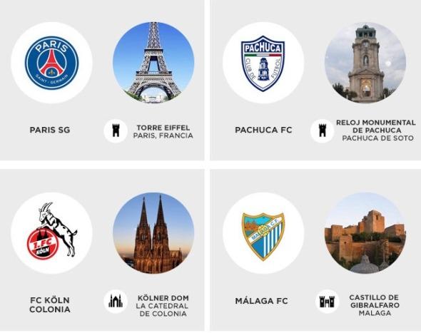 Inspiración arquitectónica en los escudos de equipos de fútbol mundial