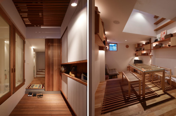 Vivienda estrecha de madera