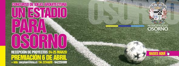 Municipio de Osorno abre concurso para proyecto de estadio en la ciudad