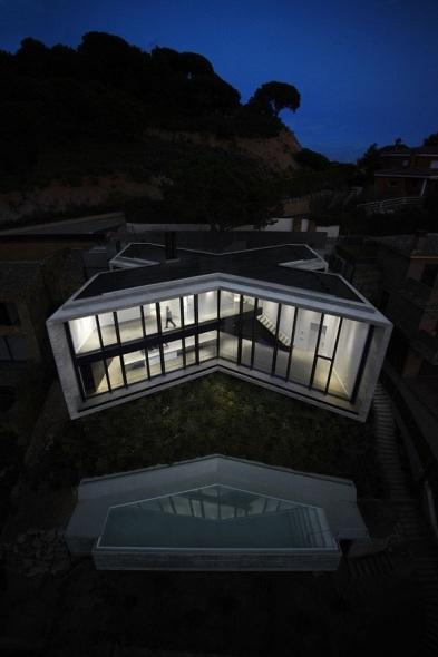 Casa en forma de X