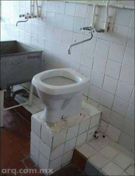 Humor en la arquitectura. Sanitario y lavamanos