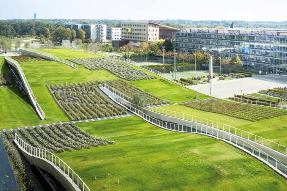 Jardines ondulantes en París