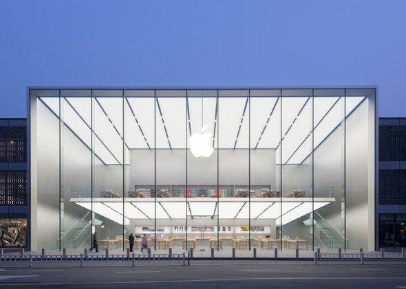 Minimalismo extremo en la nueva tienda de Apple de Foster and Partners